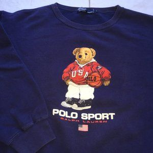 Polo Ralph Lauren Teddy Bear Sweatshirt Sz L